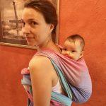 noszenie przodem do świata na plecach niemowlęcia nauka noszenia w chuście z doradcą Natalia Rączka